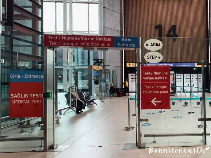 新冠肺炎伊斯坦堡機場篩檢步驟7